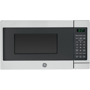 1.GE JES1072SHSS 0.7 Cu. Ft. Capacity Countertop Microwave Oven- A unique button available