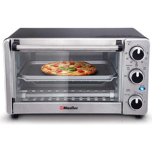 6.Toaster Oven 4 Slice by Mueller- A lightweight toaster oven