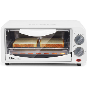 Elite Gourmet Personal 2 Slice Countertop 15 Minute Timer Toaster Oven